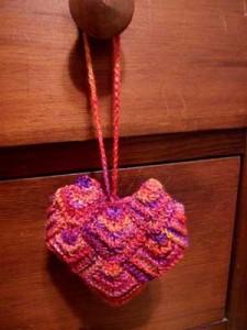 mitered heart sachet