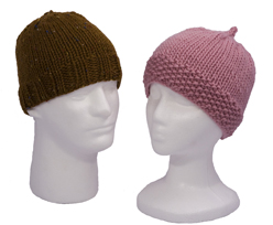 men's and women's caps knitting pattern
