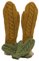 cabled mittens knitting pattern sample