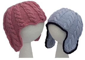 baby cabled flap hat pattern