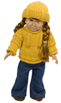 american girl doll sweater and hat knitting pattern