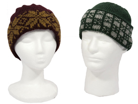 men's and women's colorwork hats pattern