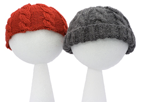 children's cabled hat pattern