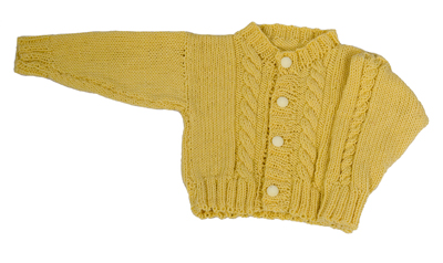 Free Knitting Pattern For Baby Sweater Knit As A Cardigan Or