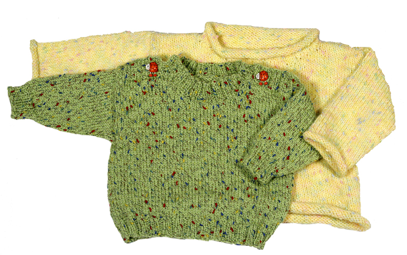 Easy Knitting Pattern for Baby Pullover Sweater - Download | Momogus ...