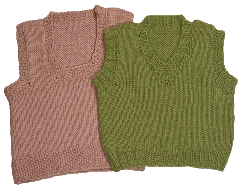 Knitting Patterns Vests : Baby Sweater Vest Knitting Pattern images