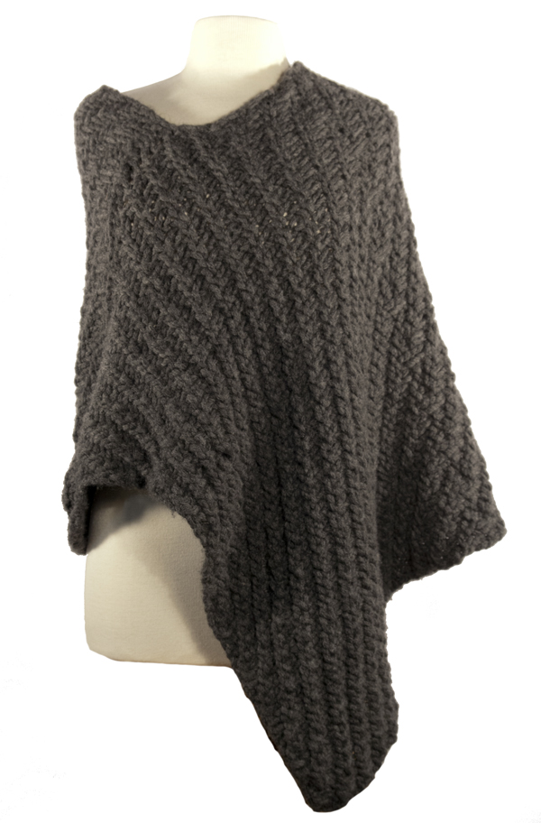Easy Wrap Poncho Knitting Pattern - Instant PDF Download | Momogus Knits