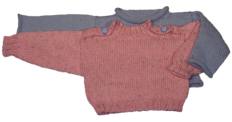 Easy Knitting Pattern For Baby Pullover Sweater Download Momogus