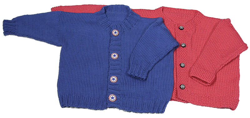 Easy Knitting Pattern For Childs Cardigan Sweater Download