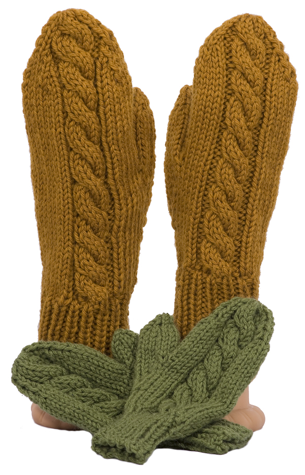 Momogus Knits Cable Mittens Knitting Pattern
