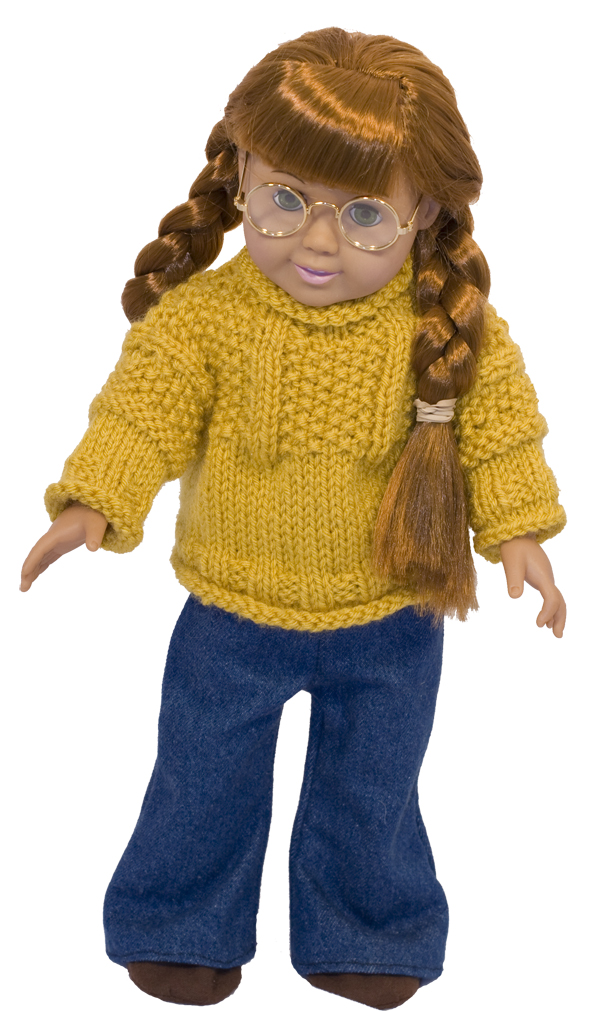 Momogus Knits American Girl Doll Sweater pattern