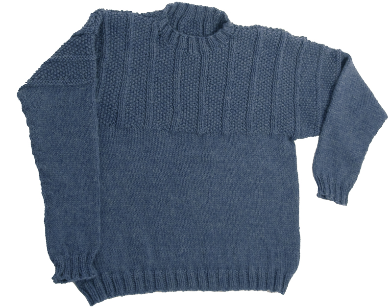 Momogus Knits Adult Gansey Sweater Knitting Pattern