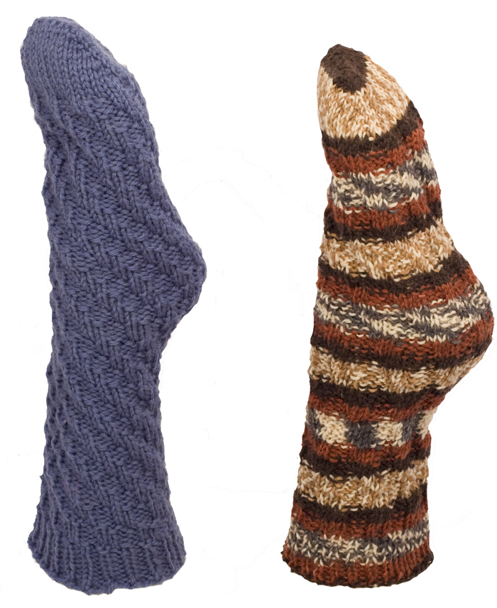 Momogus Knits Toe Up Tube Socks Knitting Pattern