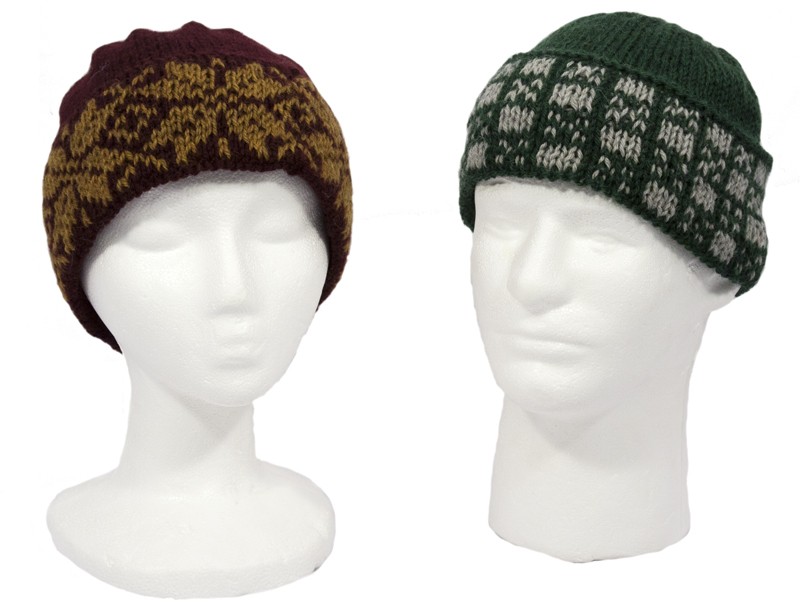 Momogus Knits Colorwork Hats Knitting Pattern. Great intro to two-color knitting.