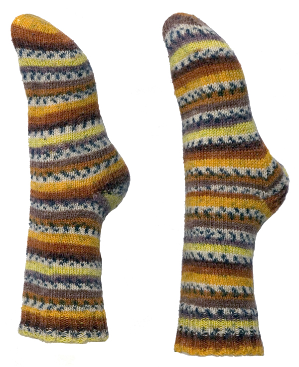 Easy Knitting Pattern for Toe Up Socks - Instant Download Momogus Knits