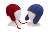 child's cable ear flap hats pattern
