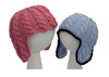 baby cable ear flap hats pattern